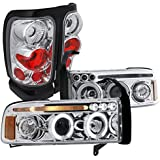 Dodge Ram Chrome clear Led Halo Projector Headlights, Altezza Tail Lights