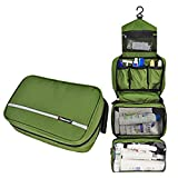 Travel Toiletry Bag Business Toiletries Bag for Men Shaving Kit Waterproof Compact Hanging Travel Cosmetic Pouch Case for Women Army Green