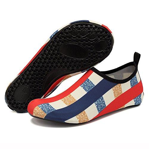 Snorkeling Women Surf Shoes for Water Shoes EASTSURE Yoga Men Swim Blue Beach Aqua Red Socks Sport FRqdWa