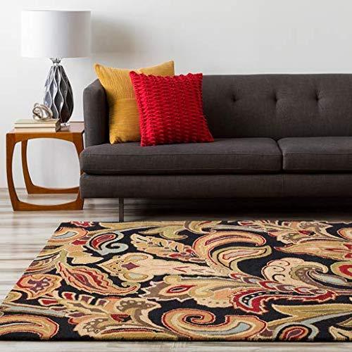 Sawmills Traditional Persian 5' x 8' Rectangle Transitional 100% Wool Black/Camel/Burgundy/Dark Brown/Tan/Khaki/Dark Purple/Charcoal/Olive/Dark Green Area Rug ()