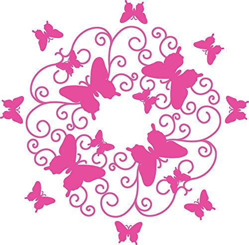 Wall Pops WPM1767 Pink Butterfly Scroll Ceiling ()