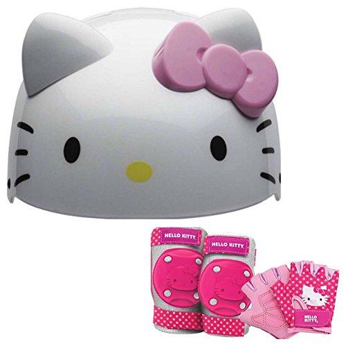 Bell Hello Kitty Kids Skate / Bike Helmet Pads & Gloves -...