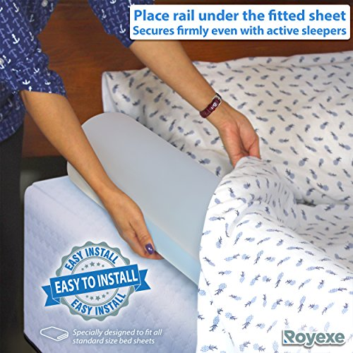 Royexe - The Original Bed Rails for Toddlers. Portable Bed Rail Bumper. Kids Inflatable Safety Guard for Bed. Fits All Sizes Beds. with Non-Slip Grip. Great for Home, Hotel, or Travel. (1-Pack) by Royexe (Image #1)