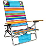 Cheap Titan Layflat Aluminum Folding Beach Chair – Tropicana Stripe