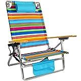 Titan Layflat Aluminum Folding Beach Chair - Tropicana Stripe