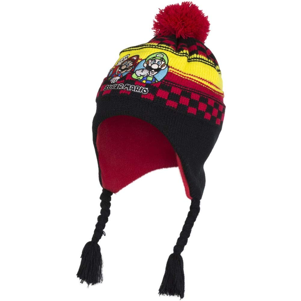 e71f1f276a81f Boys Kids Super Mario Winter Hat Glove Set 4 5 6 7 Years Fleece Cold  Weather Gear