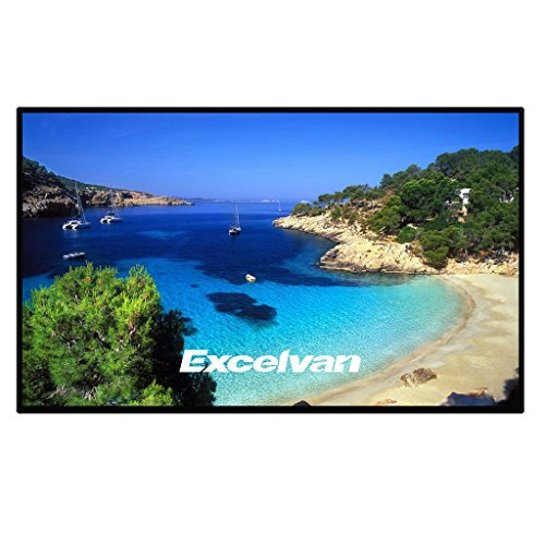 Excelvan 84 Inch 16:9 PVC Fabric Portable Indoor Outdoor Projector Screen for Home Cinema Movie, Education Office Presentations, Roll Easily