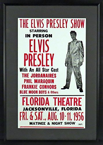 Elvis Presley 1956 Concert Poster Framed