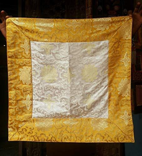 Tibetan Buddhist Lotus Design Silk Brocade Square Altar Cloth/Table Cloth/Shrine Cover/Table Cover]()