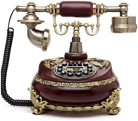 ZWS Telefonía Fija Teléfono Europeo Inicio Villa Teléfono Fijo Inalámbrico Retro Soporte de Metal Teléfono Estilo Americano Sala de Estar Adornos Vintage Teléfonos de Teclas Grandes (Color : Brown): Amazon.es: Electrónica
