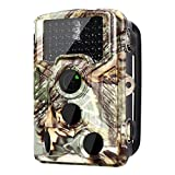 [2018 Version] Trail Camera 16MP 1080P Wildlife Game Camera 120° PIR Angle, 0.2s Trigeer Time, 65ft Infrared Camera Motion Activated with Night Vision, 2.4'' LCD Display, IP56 Waterproof