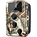 [Newest] Trail Camera 16MP 1080P Wildlife Game Camera 120° PIR Angle, 0.2s Trigeer Time, 65ft Infrared Camera Motion Activated with Night Vision, 2.4 LCD Display, IP65 Waterproof