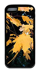 for ipod Touch 4 Case Autumn Leaves TPU Custom for ipod Touch 4 Case Cover Black