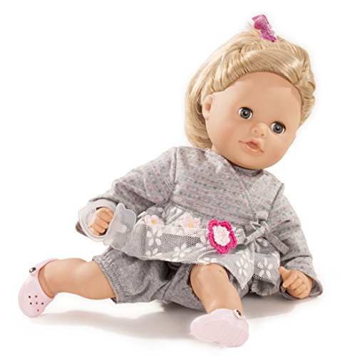 "Gotz Cosy Aquini 13"" Soft Cloth Bath Baby Doll with Blond Hair and Blue Sleeping Eyes"