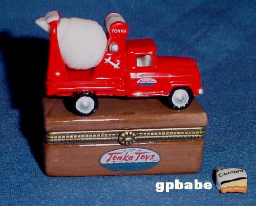 Tonka Cement Mixer Truck Porcelain Hinged Box PHB Midwest of Cannon Falls