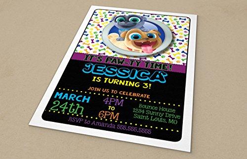 Custom Birthday Party Invitation - Puppy Dog Pals, Personalized (20 (Puppy Birthday Party Invitations)
