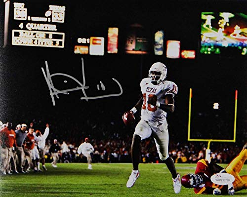 Vince Young Autographed Texas Longhorns 8x10 Photo TD Run in 05 Natl Champ Game- JSA W Auth