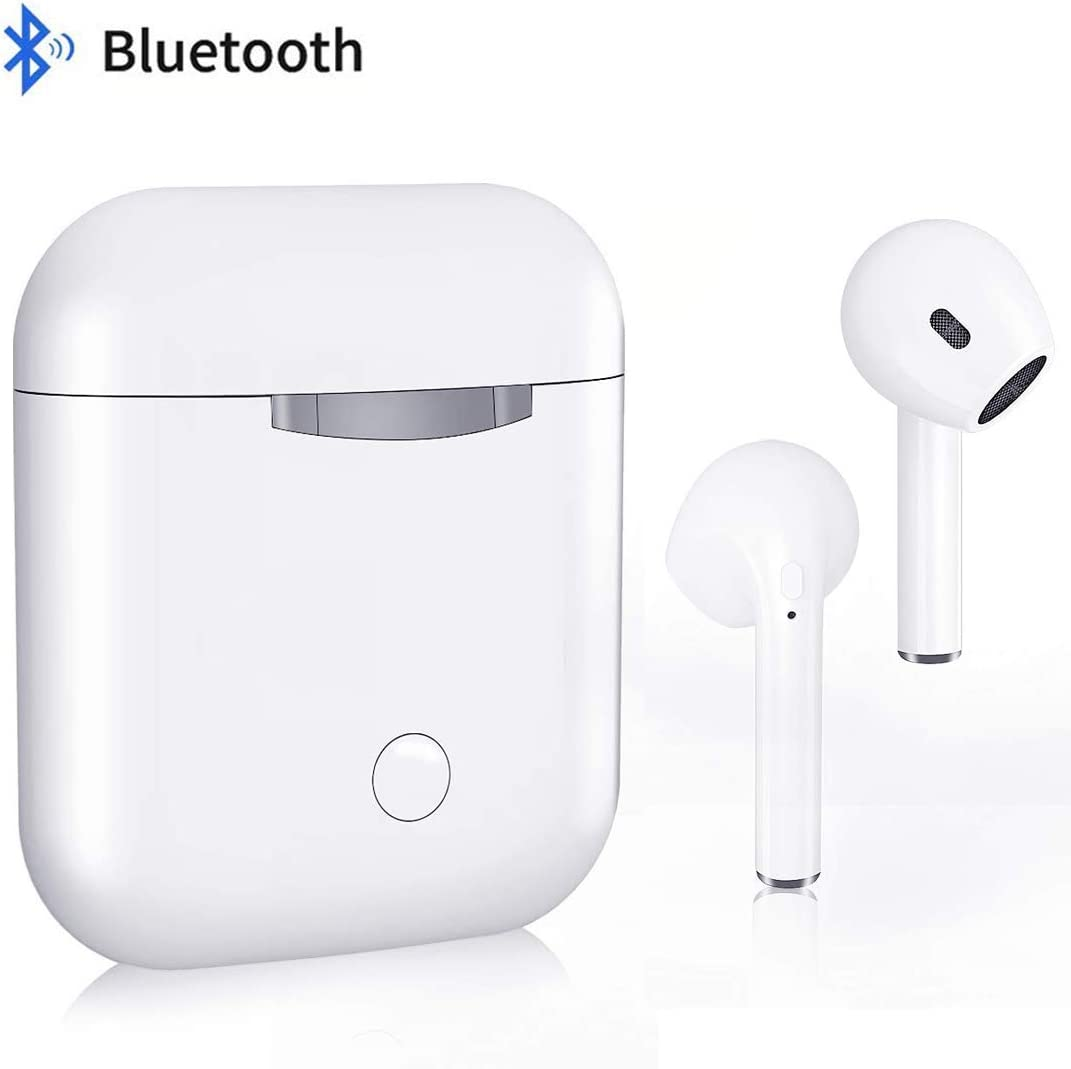Bluetooth Earbud Wireless Earbuds Stereo Bluetooth Headphones with Charging Case Built-in Mic Noise Canceling Sweatproof Sports Wireless Headphone