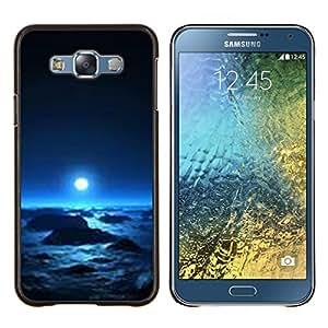 LECELL--Funda protectora / Cubierta / Piel For Samsung Galaxy E7 E700 -- planeta alienígena invierno vida universo espacio --