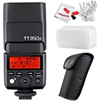 Godox TT350S 2.4G TTL Speedlite Flash for Sony Mirrorless Cameras - GN36 HSS(Max.1/8000s) 0.1-2.2s Recycle Time 210 Full Power Flashes 22 Steps of Power Output(1/1-1/128) 24-105mm Auto/Manual Zooming