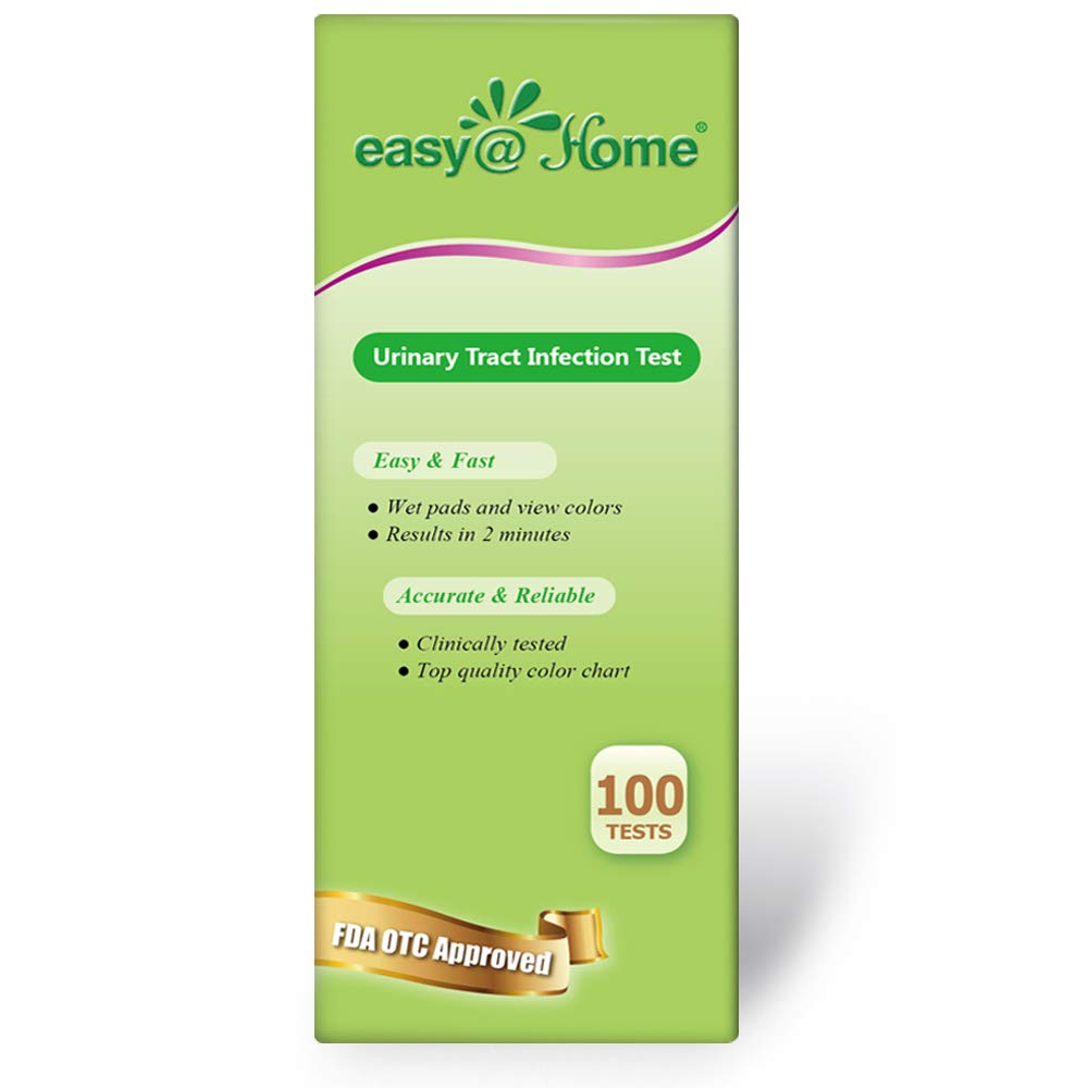 Easy@Home 100 Tests/Bottle Urinary Tract Infection UTI Test Strips, Monitor Bladder Urinary Tract Issues Testing Urine- FSA Eligible, FDA Approved for Over the Counter (OTC) USE, Urinalysis (UTI-100P) by Easy@Home