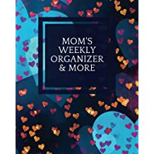 Mom's Weekly Organizer & More: Navy Cover | Parents Ultimate Organizer | Add Details For Up To 4 Children, Emergency Details, Children And School Information, Chore Checklist, Cleaning Schedule, Meal Planner & More