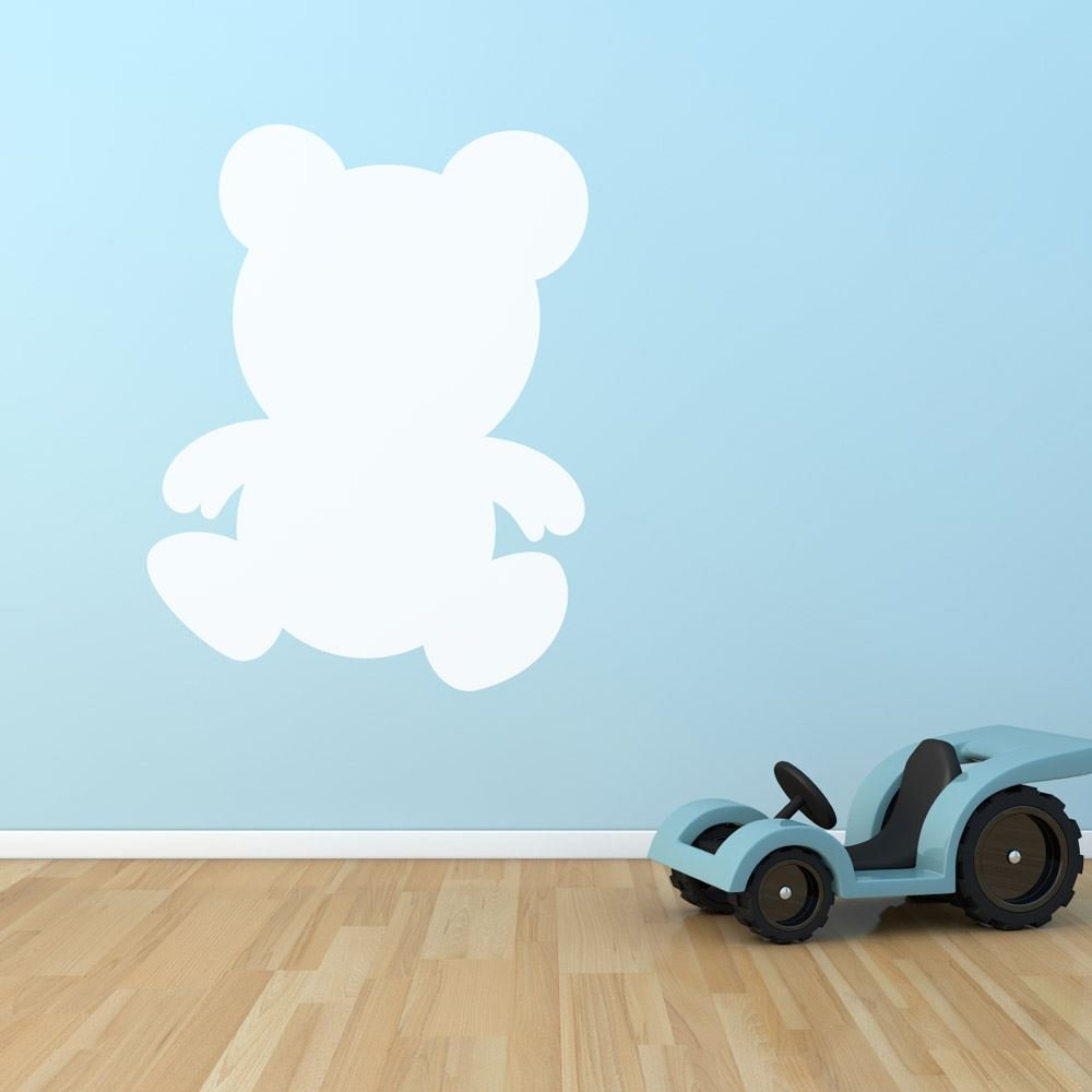 Teddy Pizarra dormitorio infantil Playroom Wall Sticker ...