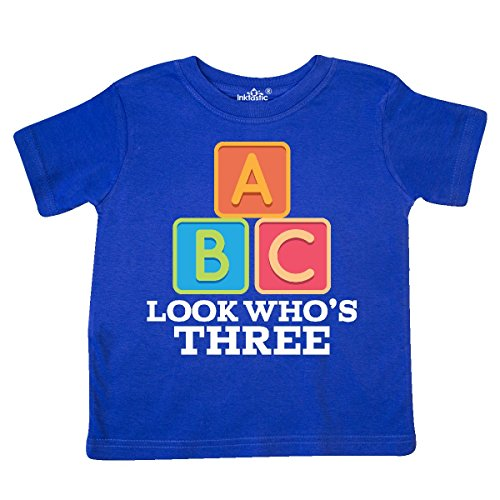 (inktastic - 3rd Birthday 3 Year Old Alphabet Toddler T-Shirt 3T Royal Blue)