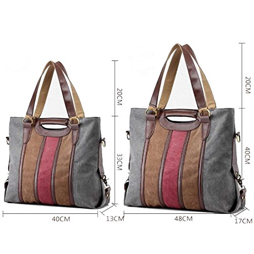 Hobo Travel Canvas Bag For and Ladies Shoulder Shopping Large Bags Easy Matching Stylish Khaki Tote UNYU twxB4Sqq
