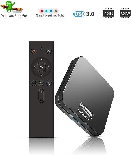 Android 9.0 TV Box Amlogic Receptor de TV S905X2 4G DDR4 32G ROM 4K Inteligente Android con WiFi 4K Set Top Box IPTV 4K 2.4G WiFi Media Player: Amazon.es: Hogar