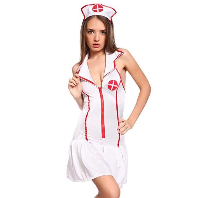 Sra. Enfermera Traje De Halloween Maquillaje Club Enfermera ...