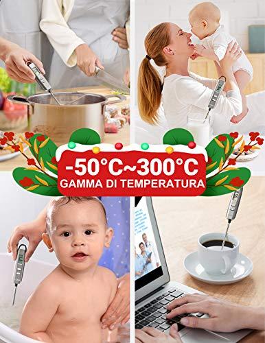 Habor Termometro Cucina Digitale, 5S Lettura Instantanea Auto-Off Termometro da Cucina per Carne, BBQ, Vino, Latte… 4