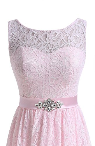 Party Lace Short Crystal Dreagel Homecoming Dress Red Dresses for Bridesmaid Women's wfq6EEz