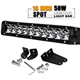 "10"" 11 Inch Low Profile Single Row Led Light Bar Super Slim Driving Fog Offroad Front Bumper Light Bar ATV Side By Side Polaris Ranger RZR Jeep Rubicon Tj Chevrolet Silverado 1500 Ford F150 Maverick"
