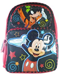 Full Size Black and Red Mickey Mouse Backpack - Mickey Mouse Bookbag 16
