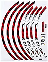 """Ecoshirt 88-YF3U-R725 Pegatinas Stickers Llanta Rim DT Swiss Syncross Xr25 MTB Downhill, Rojo Blanco 29"""""""