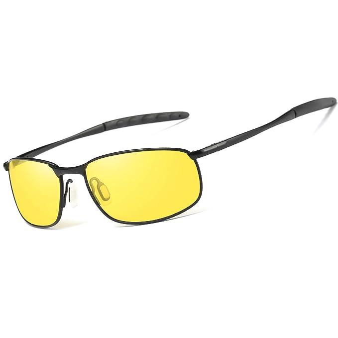 AORON - Gafas de sol - para hombre Amarillo Black Frame ...