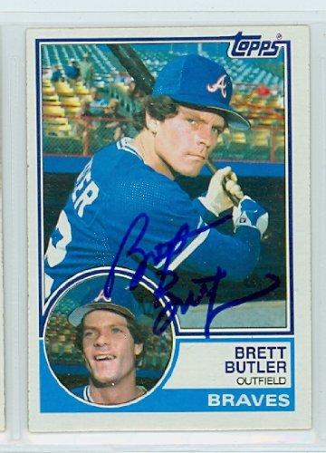 Brett Butler AUTOGRAPH 1983 Topps #364 Atlanta Braves