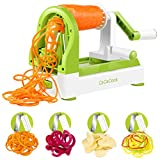 Spiralizer Vegetable Slicer, CaCaCook 4 Blades Zoodle Maker,Veggie Spiralizers Zuchinni Spiral Noodle Spaghetti Maker, free download recipes ebook ,with peeler and cleaning brush