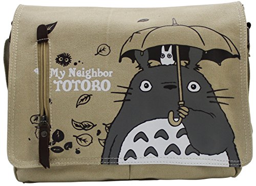 Totoro Shoulder Bag Unisex Anime Messenger Bag Grey (Ghibli Brown Bag)