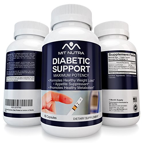 Best Diabetic Support - #1 White Mulberry Leaf | Low Blood Sugar | Rich in Antioxidants & Fiber Helps in Weight Loss | 60 Veggie Capsules Pills Natural Finest Quality Non GMO Premium Supplement - Clearly Fiber Powder