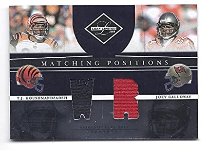 0da7404a76d T.J. HOUSHMANDZADEH JOEY GALLOWAY 2008 Leaf Limited Matching Positions #18  DUAL GAME-WORN JERSEY