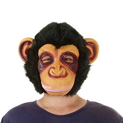 [USATDD Latex Animal Head Mask For Halloween Costume Cosplay Party Deluxe Novelty Gift (Monkey)] (Halloween Costumes Scary Doll)
