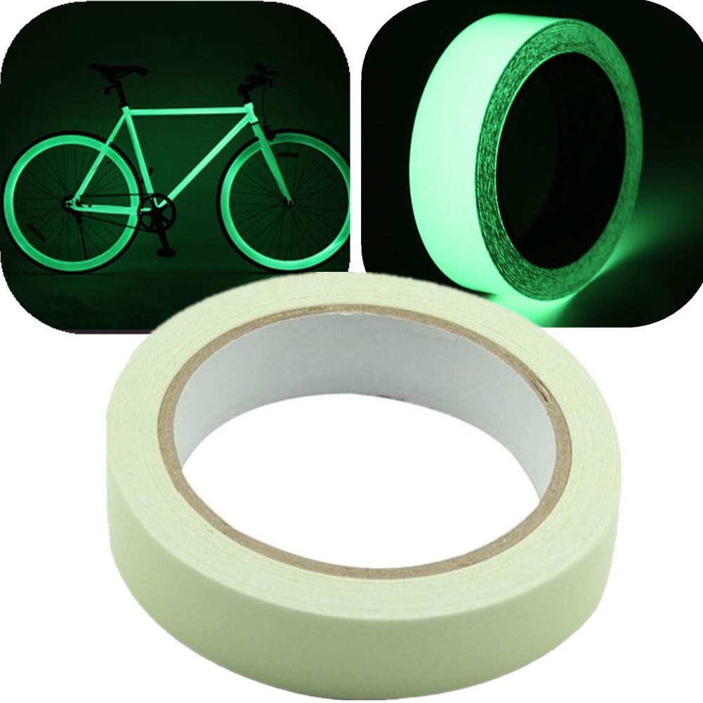 Glow in The Dark Luminous Tape Sticker Silence Shopping 0.78 Inch Width x 32.8 Feet Length in Luminous Photoluminescent Safety Markers Removable, Waterproof