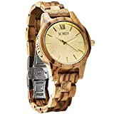 JORD Wooden Wrist Watches for Women - Frankie 35mm Series / Wood Watch Band / Wood Bezel / Analog Quartz Movement - Includes Wood Watch Box