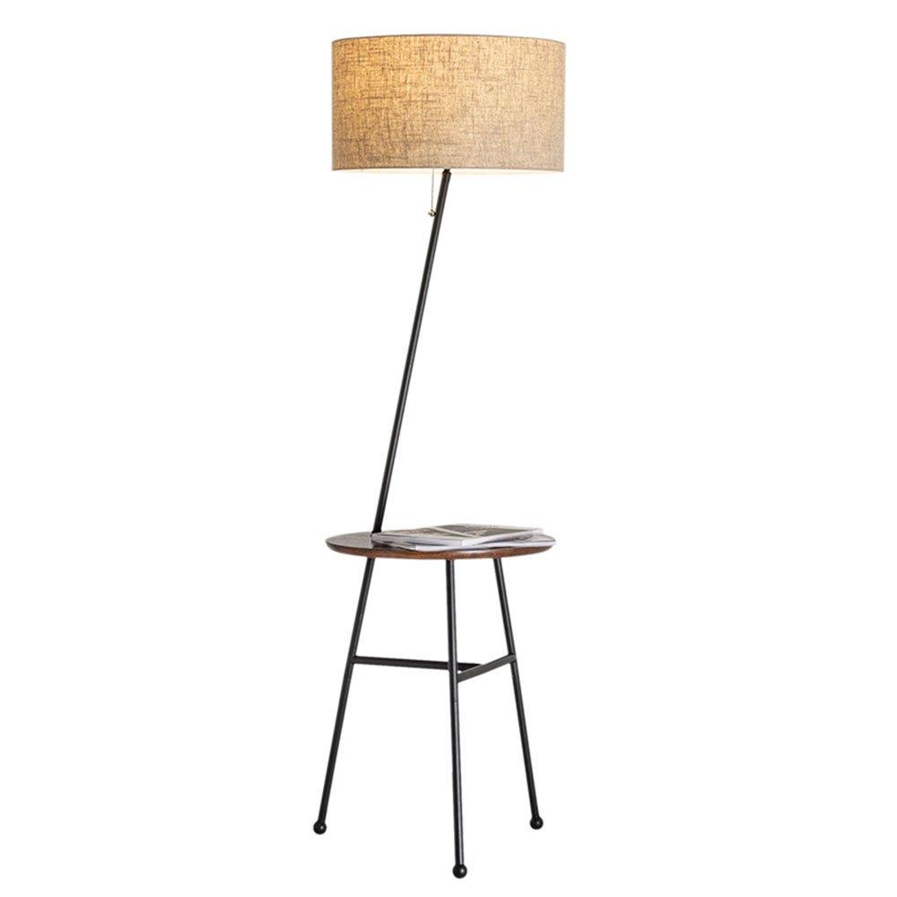 Im europäischen Stil Stehlampe Serie Amerikanisches minimalistisches modernes nordisches rundes Regal-Eisen Stehleuchte Wohnzimmer Schlafzimmer Sofa Couchtisch Stehleuchte (Farbe wahlweise freigestellt) - Retro-Stehlampe ( farbe : A )
