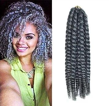 12quot Grey Color Crochet Braid Hair Extensions Braids Havana Mambo Twist Style Cuban