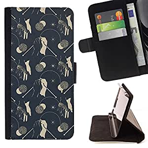 Modelo del papel pintado de la vendimia Setas grises- Modelo colorido cuero de la carpeta del tirón del caso cubierta piel Holster Funda protecció Para Apple iPhone 5 / iPhone 5S