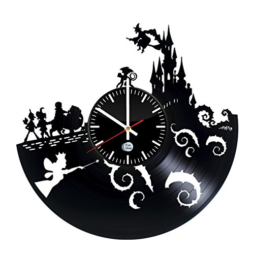 WIZARD OF OZ Vinyl Record Wall Clock - Get unique kids room wall decor - Gift ideas for kids – Large Unique Modern Art (Wizard Of Oz Decoration Ideas)