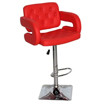 Swell Us Pride Furniture Olivia Collection Modern Faux Leather Upholstered Adjustable Swivel Bar Stool With Tufted Finish And Open Arms Red Onthecornerstone Fun Painted Chair Ideas Images Onthecornerstoneorg